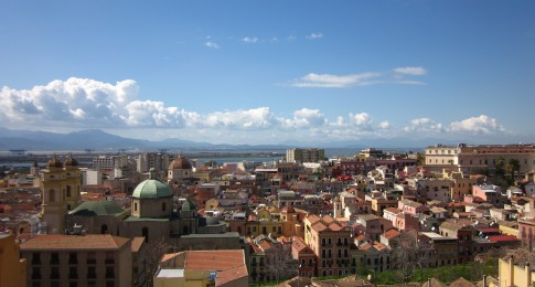 Stampace district - View from Bastione di Santa Croce