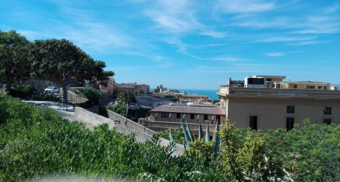 View from Viale Buoncammino