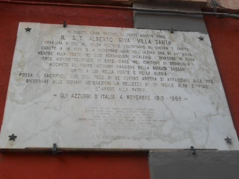 Alberto Riva Villasanta Commemorative Plaque