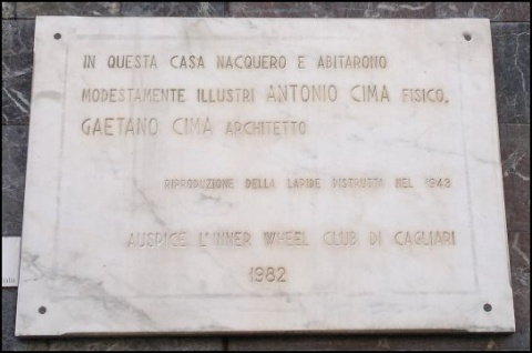 Antonio and Gaetano Cima Commemorative Plaque