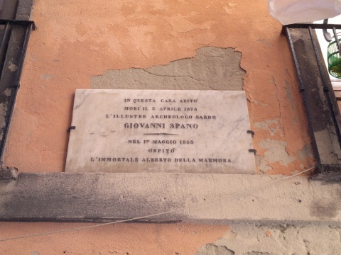 Giovanni Spano Commemorative Plaque